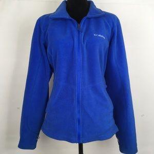 Columbia Omni Heat Full Zip Fleece Jacket Blue